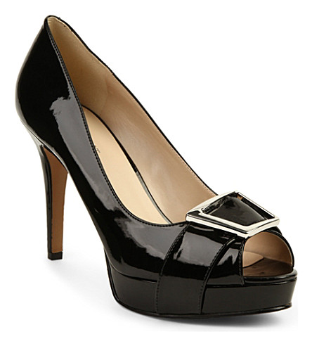 NINE WEST Cassilina patent courts (Black