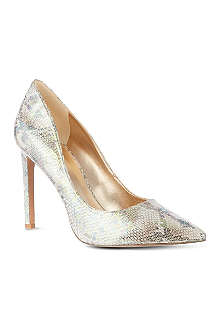NINE WEST Tatiana iridescent snake-look court shoes