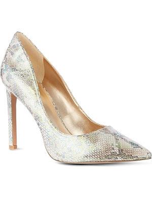 NINE WEST Tatiana iridescent snake-look court shoes