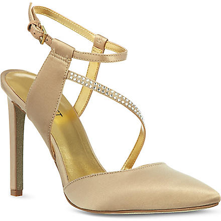 NINE WEST Tanessa satin sandals (Champagne