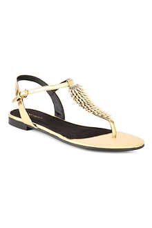 NINE WEST Zachi3 flat T-bar sandals