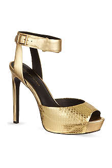 KG KURT GEIGER Hayley metallic sandals