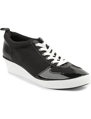 NINE WEST Paisley canvas wedge trainers