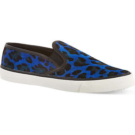 CARVELA Laurel ponyskin skate shoes (Blue