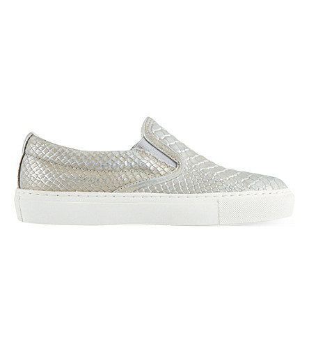KG KURT GEIGER Londres slip-on trainers (Silver