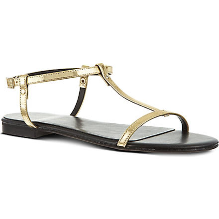 KG KURT GEIGER Match metallic sandals (Gold