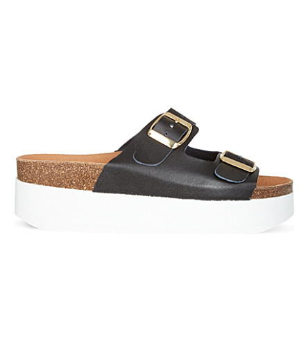 KG KURT GEIGER Nola platform sandals (Black