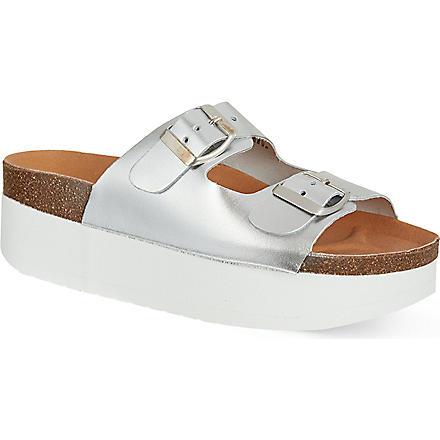 KG KURT GEIGER Nola platform sandals (Silver