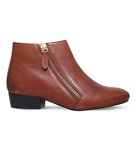 KG KURT GEIGER Sally leather ankle boots (Tan