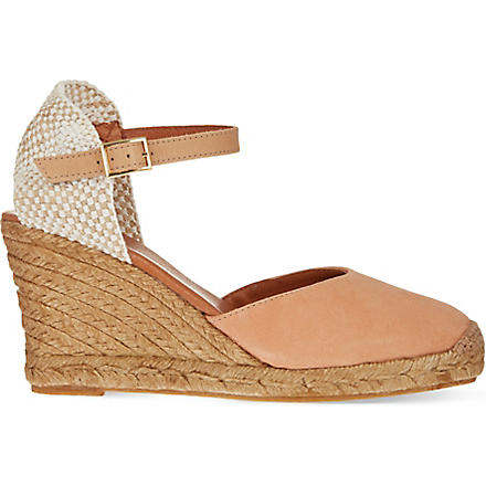 KG KURT GEIGER Monty wedge sandals (Nude