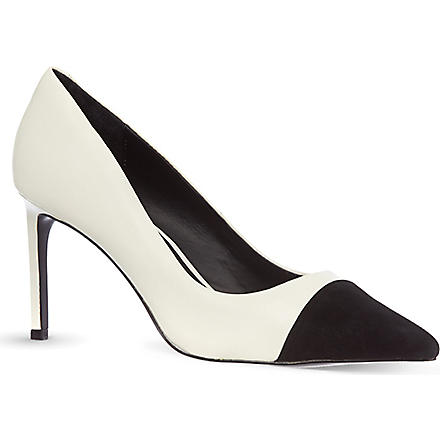 KG KURT GEIGER Bebe court shoes (White/blk