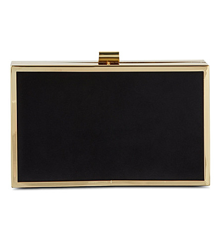 CARVELA Boom suede clutch (Black
