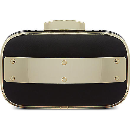 CARVELA Best plate satin clutch (Black