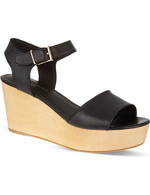 KG KURT GEIGER Nia wooden heel sandals