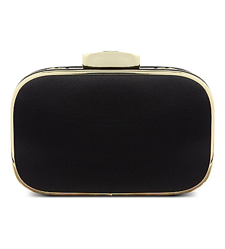 CARVELA Better satin clutch bag (Black