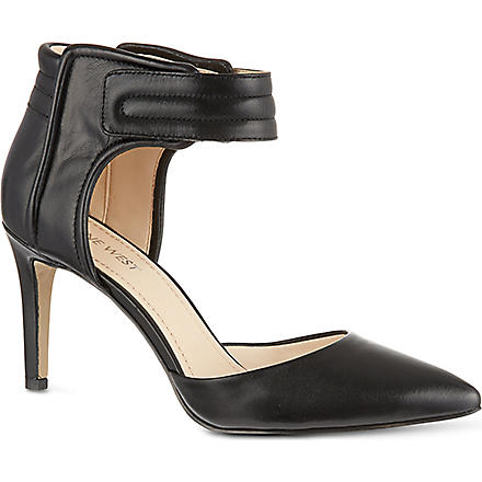 NINE WEST Chanterele leather sandals (Black