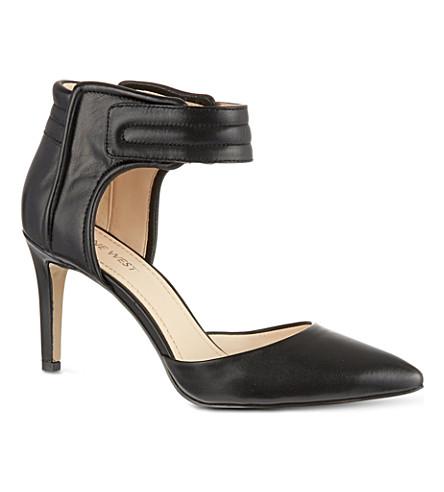 NINE WEST Chanterele leather sandals (Black
