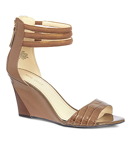 NINE WEST Floriscine leather sandals (Brown