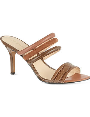NINE WEST Gabyy croc leather sandals