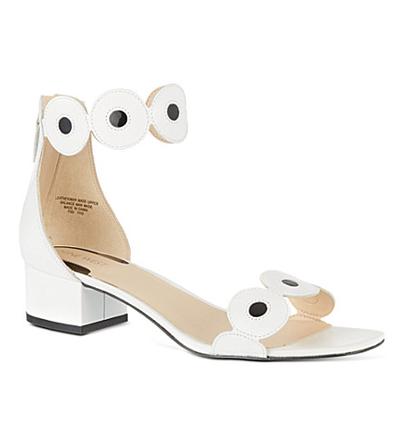 NINE WEST Matchmade leather sandals (Blk/white