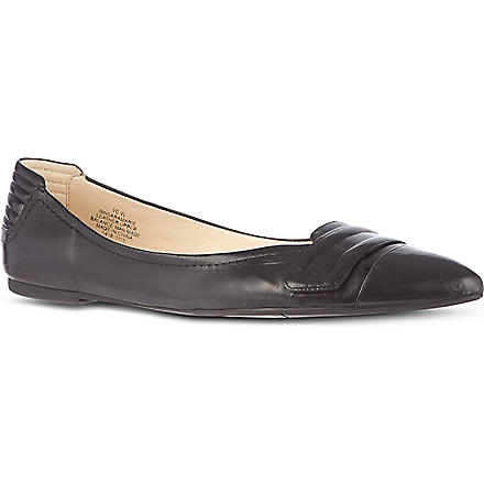 NINE WEST Saramarie leather pumps (Black