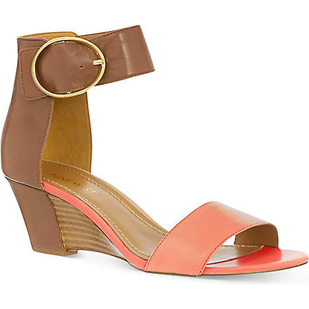 NINE WEST Ventana leather sandals (Red/other