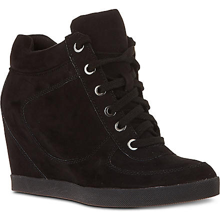 CARVELA Lady suede wedge trainers (Black