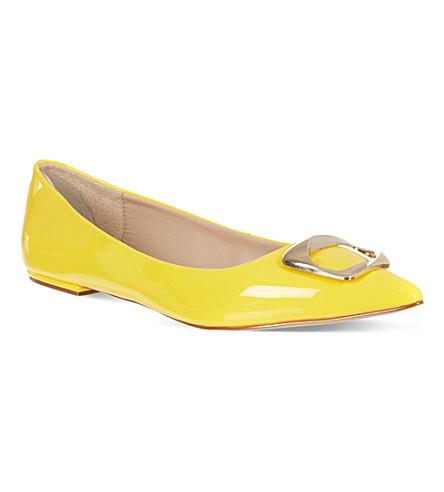 CARVELA Lassie patent flats (Yellow