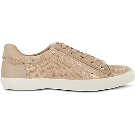 CARVELA Lock leather trainers (Nude