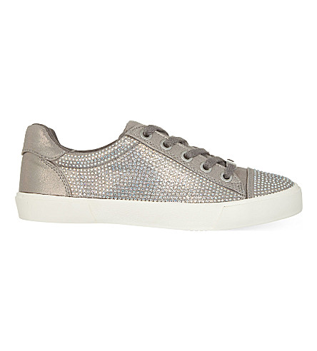 CARVELA Lock embellished trainers (Silver