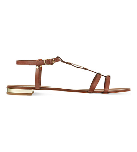 CARVELA Kinetic leather sandals (Tan