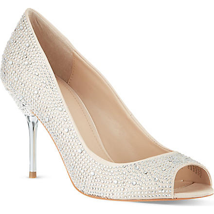 CARVELA Grid court shoes (Cream