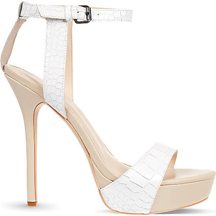CARVELA Gown croc leather sandals (White