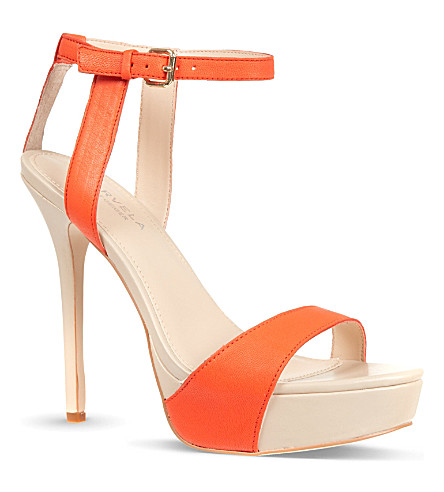 CARVELA Gown contrast sandals (Orange