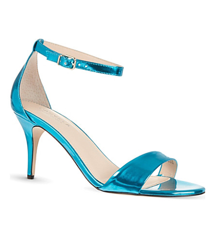 CARVELA Glade metallic heeled sandals (Turquoise