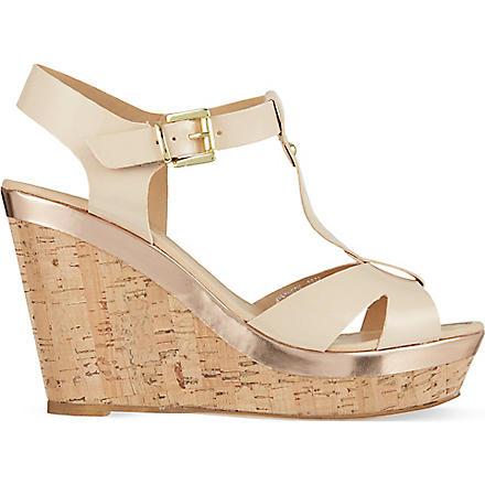 CARVELA Kabby platform wedge sandals (Nude