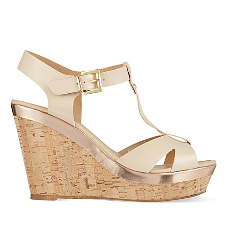 CARVELA Kabby platform wedge sandals (Nude