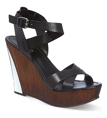 CARVELA Kaffine wedge sandals (Black