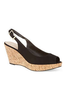 CARVELA Klix suede wedge heeled sandals
