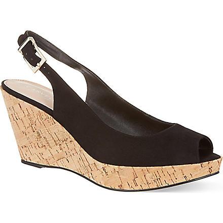 CARVELA Klix suede wedge heeled sandals (Black