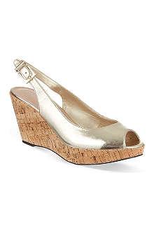 CARVELA Klix metallic wedge sandals