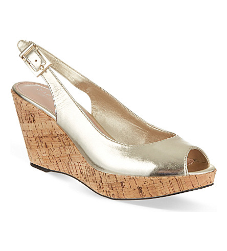 CARVELA Klix metallic wedge sandals (Gold