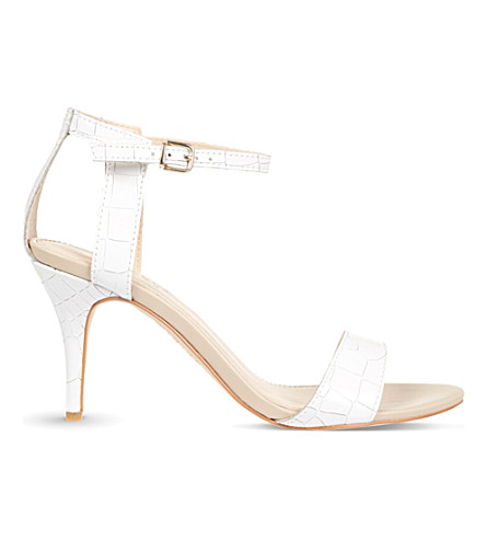 CARVELA Kollude leather heeled sandals (White
