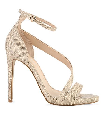 CARVELA Gosh gold sequin sandals (Gold