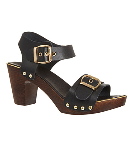 CARVELA Kamp block sandals (Black