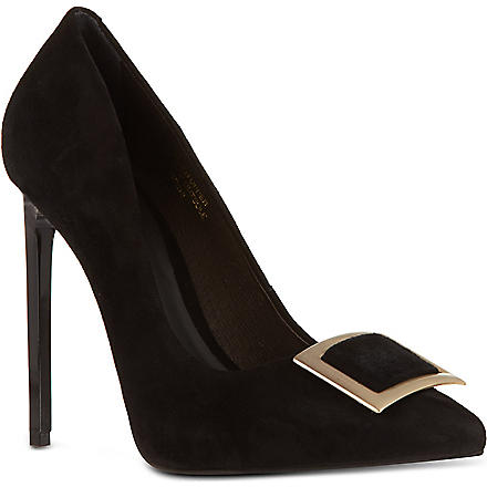 KG KURT GEIGER Bryony suede court shoes (Black