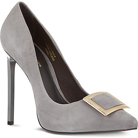KG KURT GEIGER Bryony suede court shoes (Grey