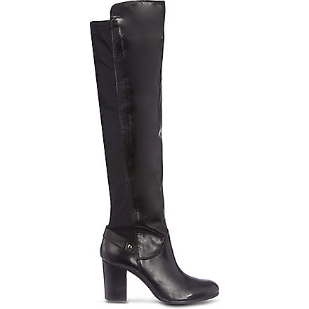 CARVELA Wooden leather boots (Black
