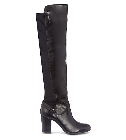 CARVELA Wooden leather boots (Black