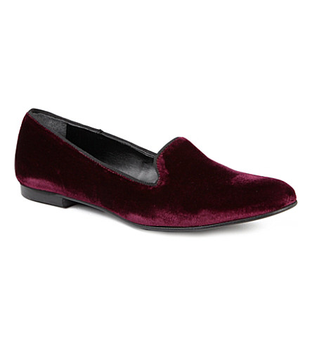 KG KURT GEIGER Lexie velvet slippers (Wine
